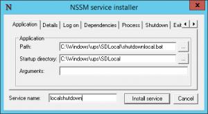 nssm install